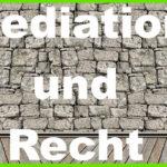 Mediation & Recht